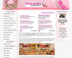 Shoe Junkie Web Design