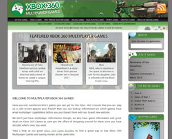 Xbox 360 Multiplayer Games Web Design