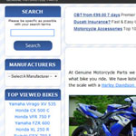 Genuine Motorcycle Parts Web Design