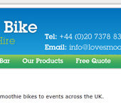 Love Smoothie Bike Web Design