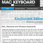 Mac Keyboards Web Design